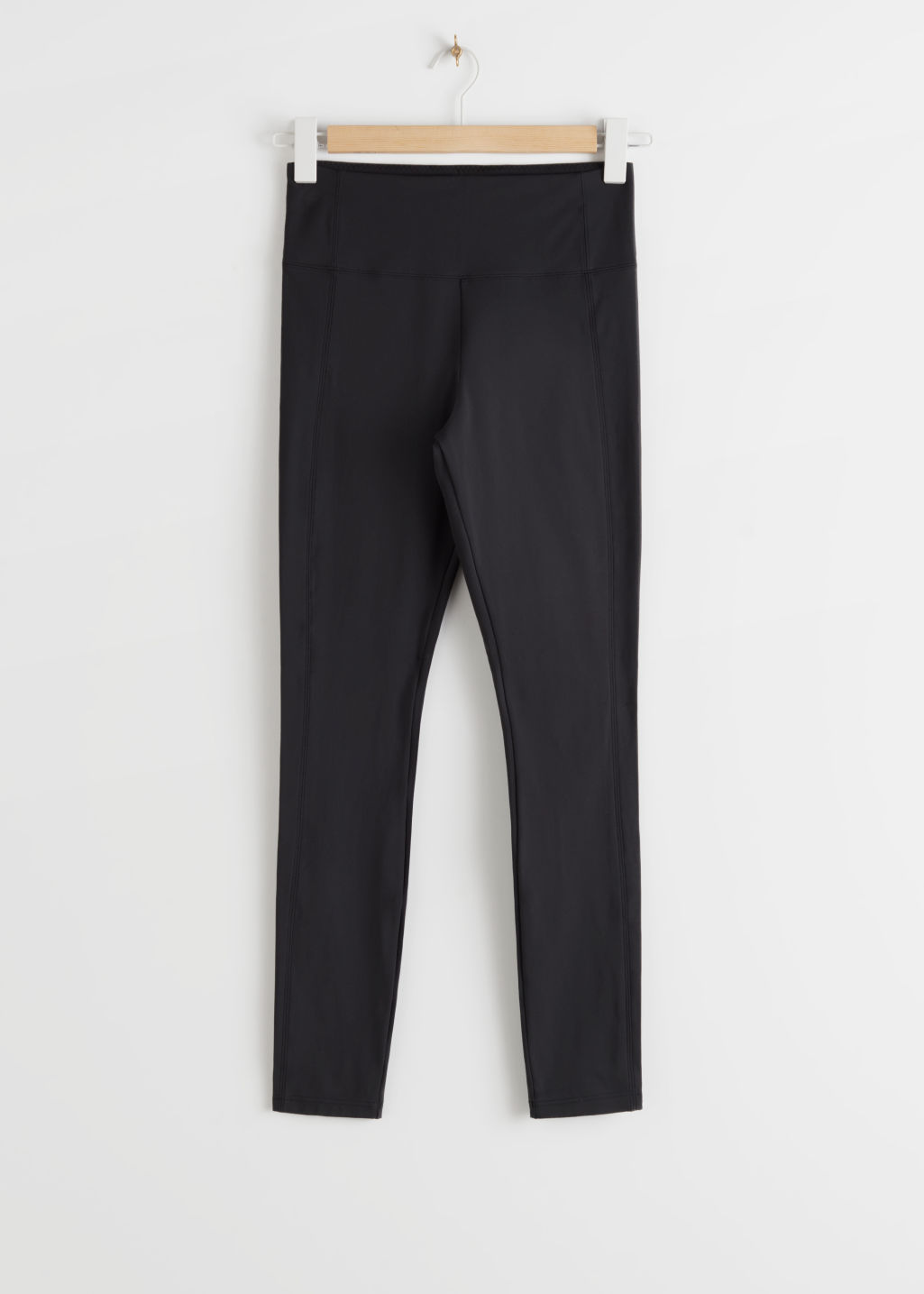 StillLife Front Image of Stories Yoga Trousers in Black