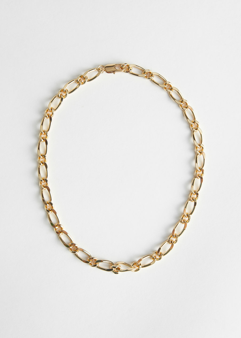 StillLife Front Image of Stories Chunky Chain Link Necklace in Gold