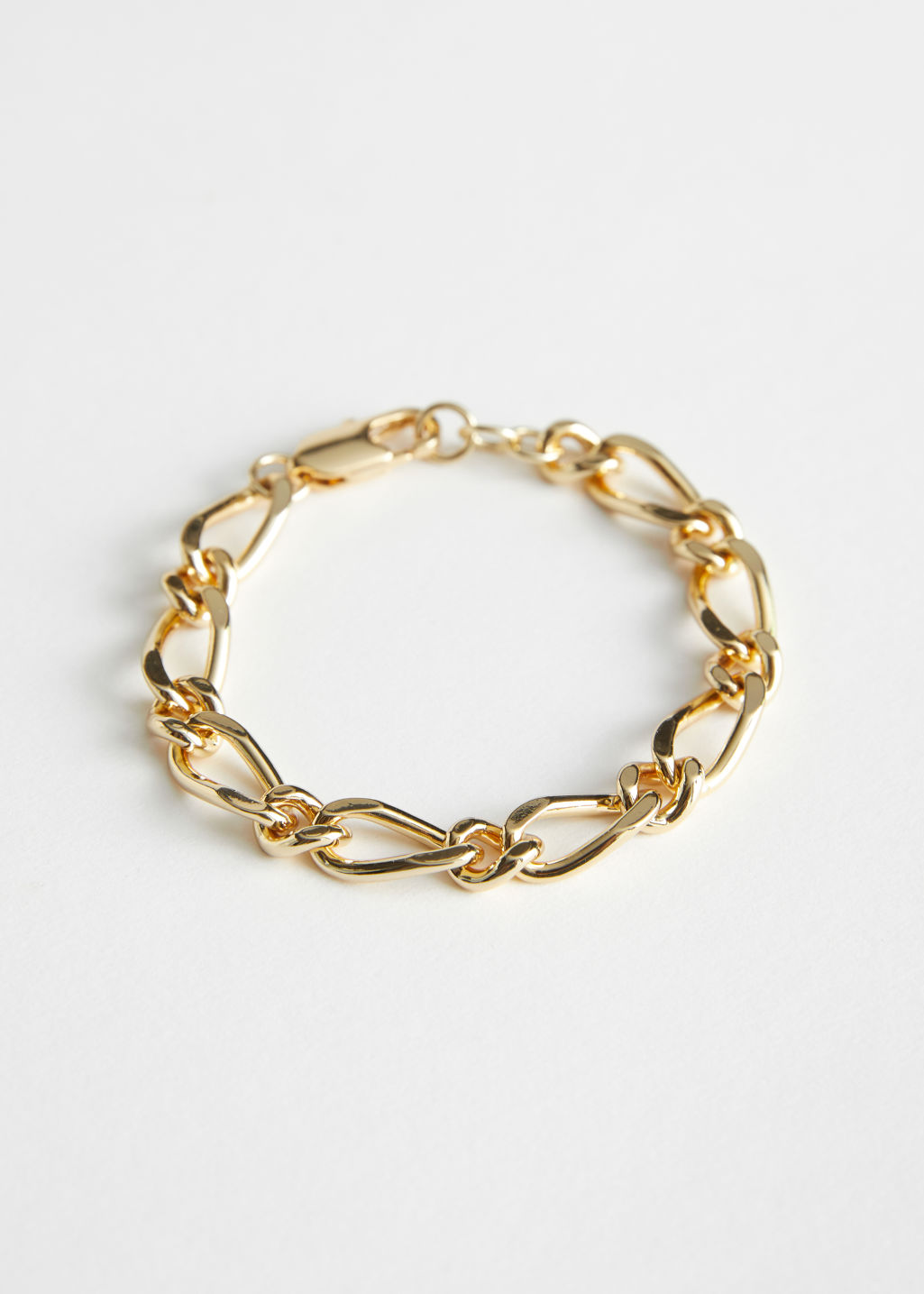 StillLife Front Image of Stories Chunky Chain Link Bracelet in Gold