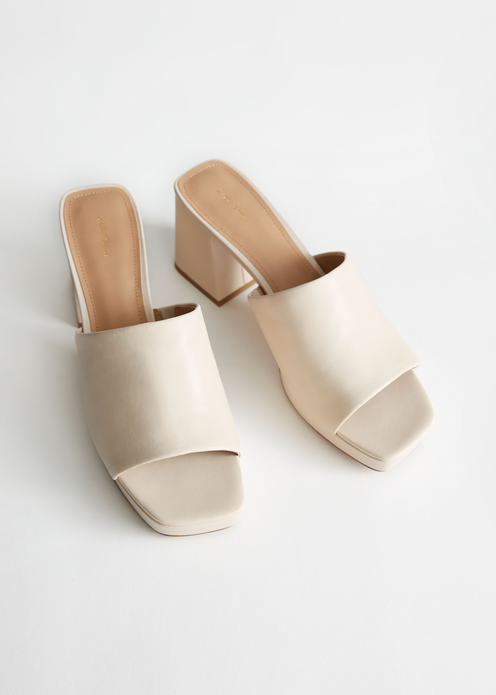 Leather Heeled Platform Mules & Other Stories