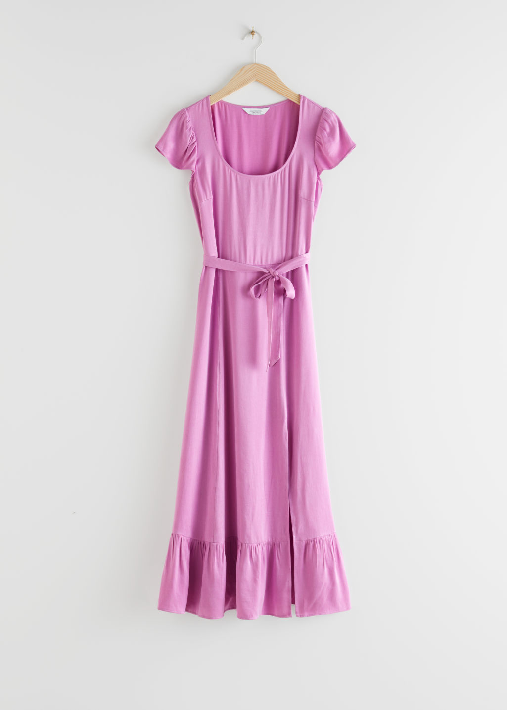 StillLife Front Image of Stories Scoop Neck Midi Dress in Purple