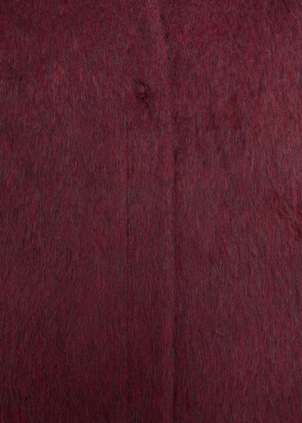 Detailed image of Stories wool-blend coat in red