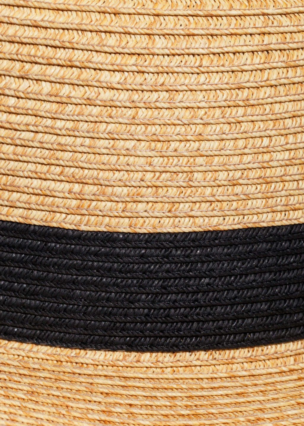 Detailed image of Stories straw fedora hat in beige