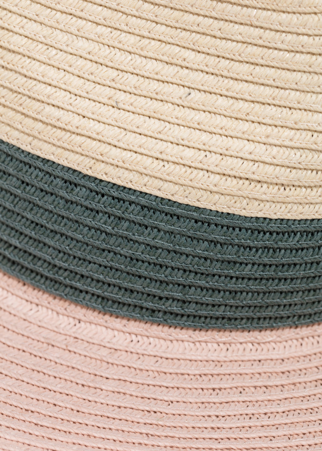 Detailed image of Stories straw fedora hat in pink