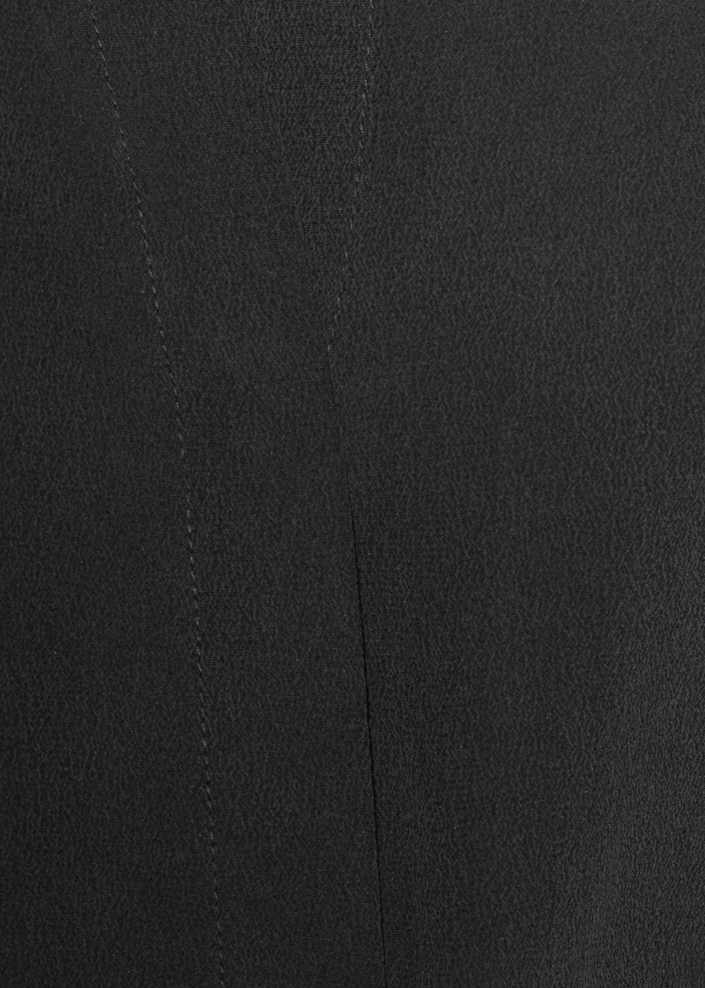 Detailed image of Stories straight fit silk shirt in black