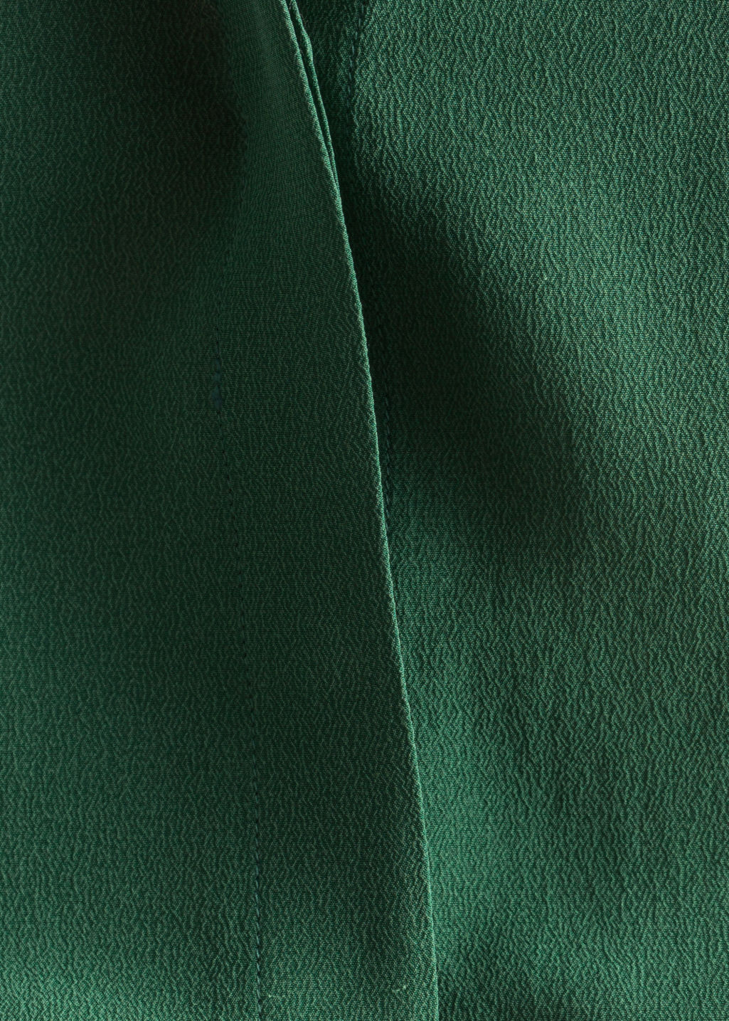 Detailed image of Stories straight fit silk shirt in green