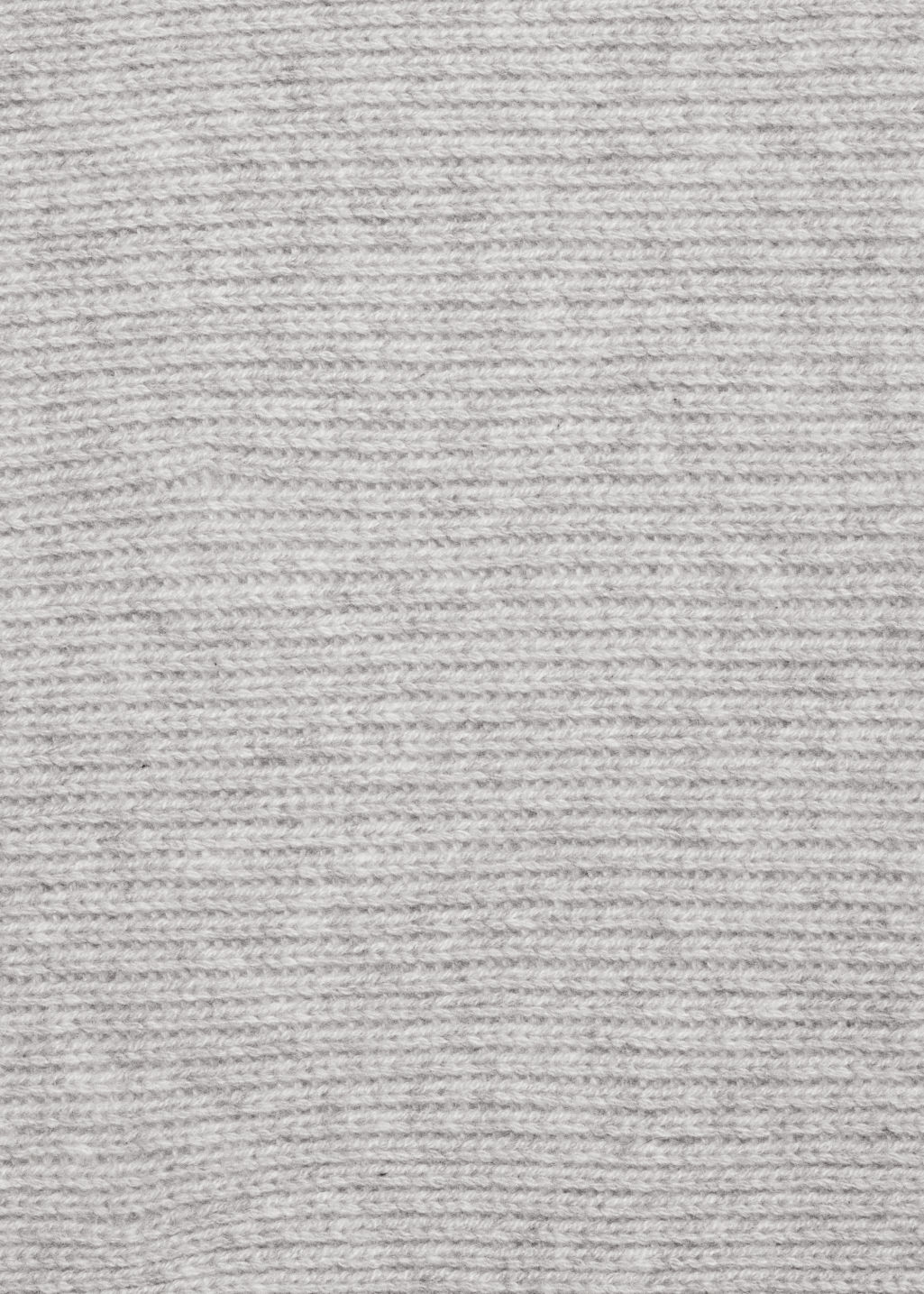 Detailed image of Stories ribbed cashmere scarf in grey