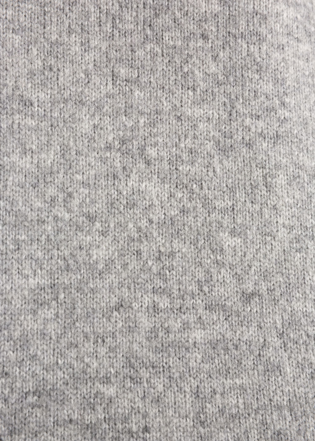 Detailed image of Stories turtleneck sweater in grey
