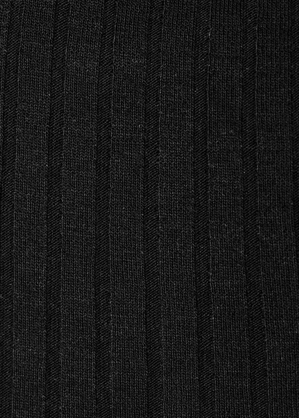 Detailed image of Stories ribbed top in black