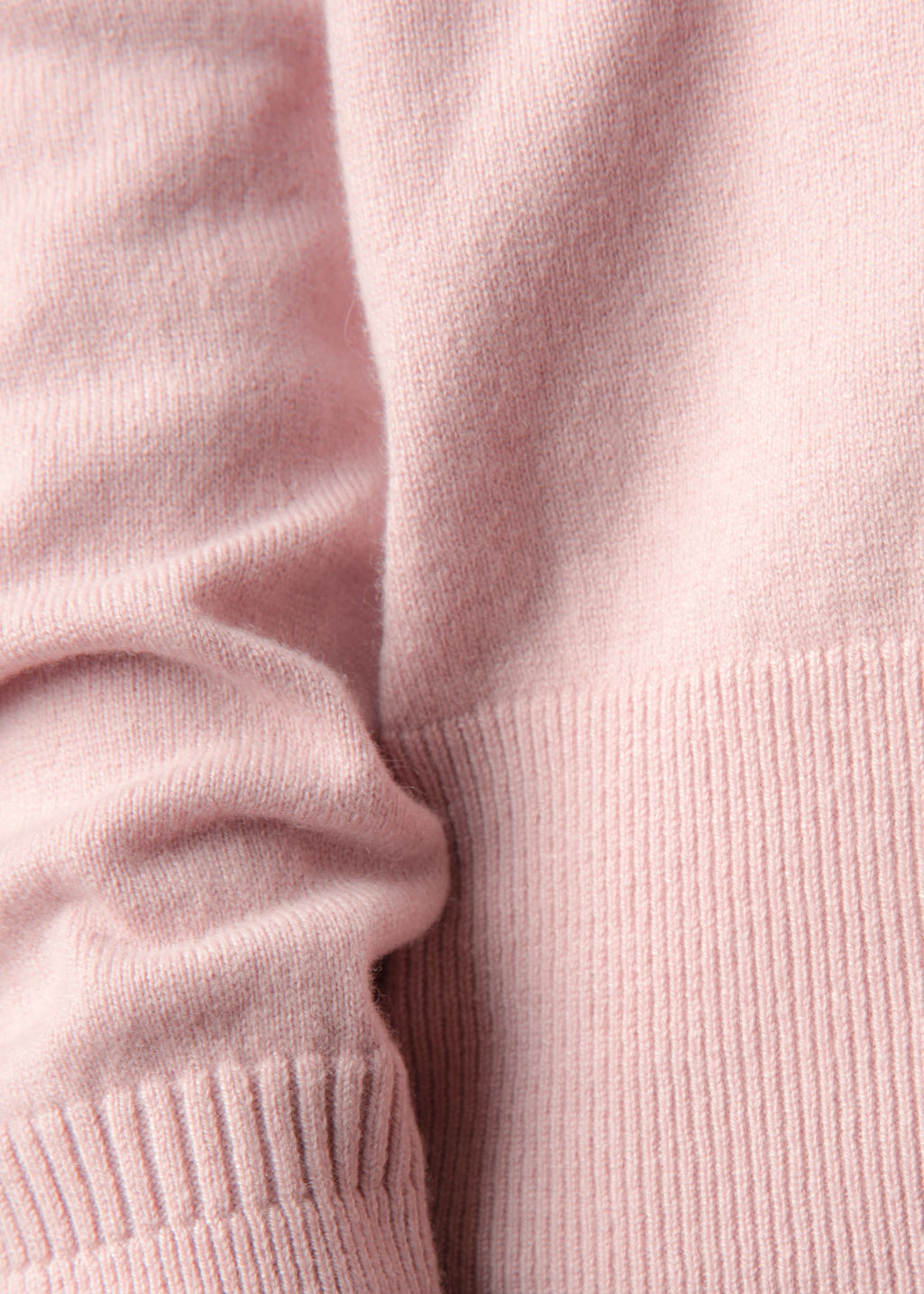 Detailed image of Stories cashmere knit sweater in pink