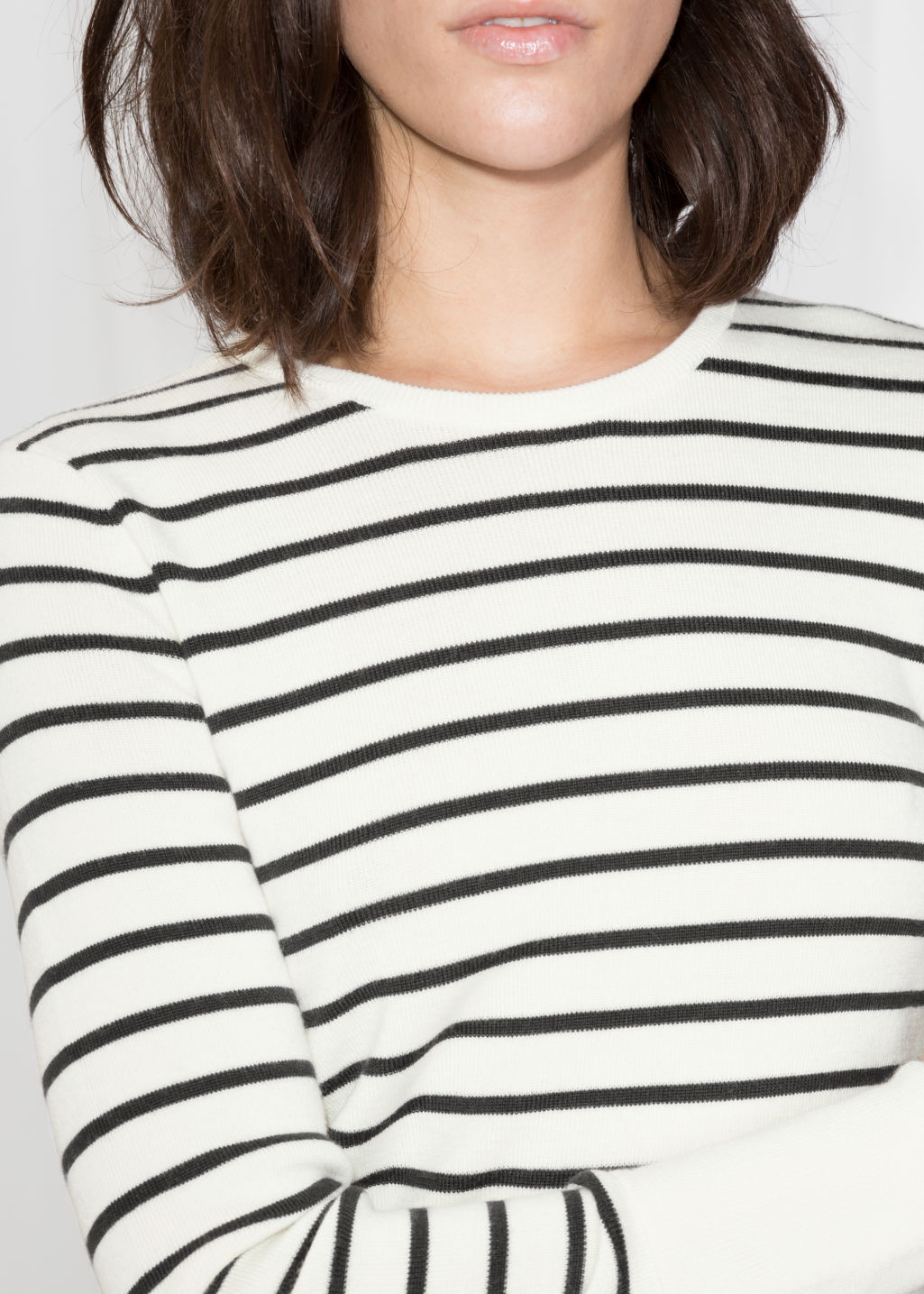 Detailed image of Stories nautical sweater in white