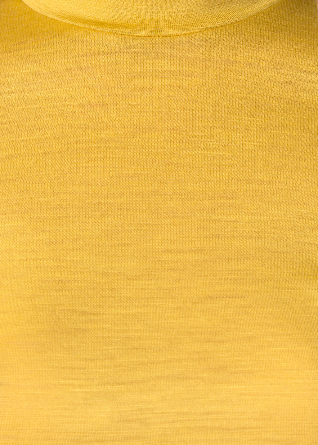 Detailed image of Stories basic wool turtleneck  in yellow
