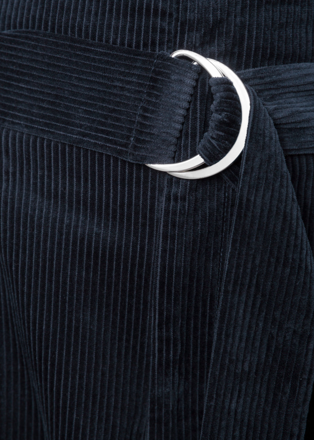 Detailed image of Stories wide corduroy trousers in blue
