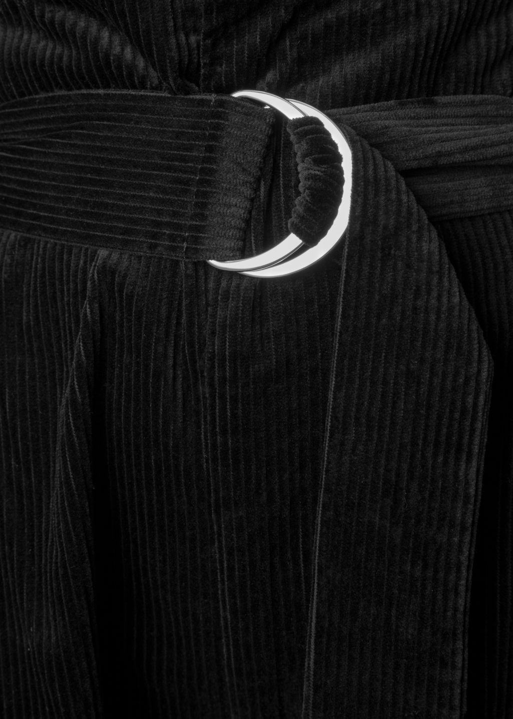 Detailed image of Stories wide corduroy trousers in black
