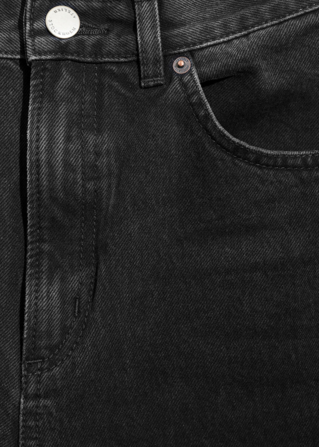 Detailed image of Stories mom denim  in black