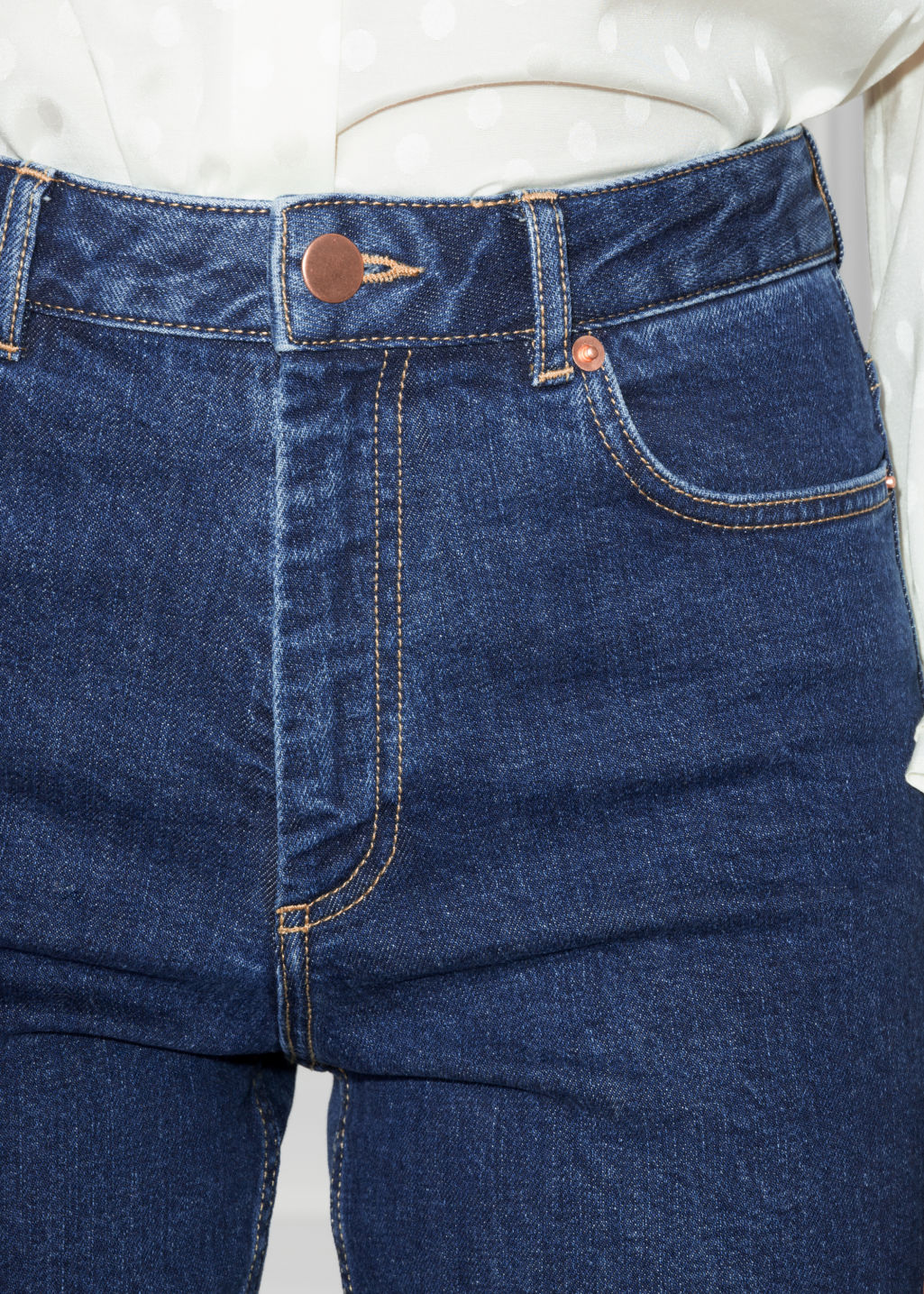 Detailed image of Stories straight denim jeans in blue