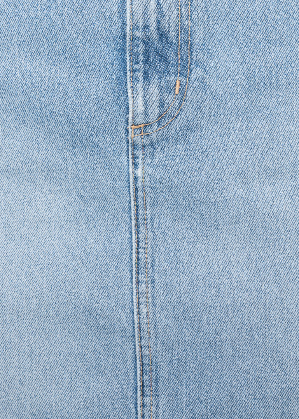 Detailed image of Stories denim skirt in blue