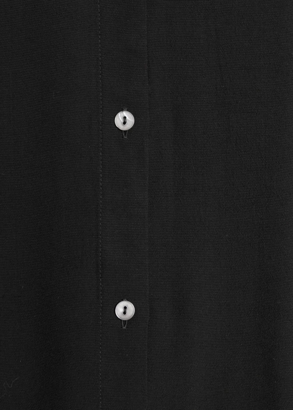 Detailed image of Stories maxi shirt dress in black