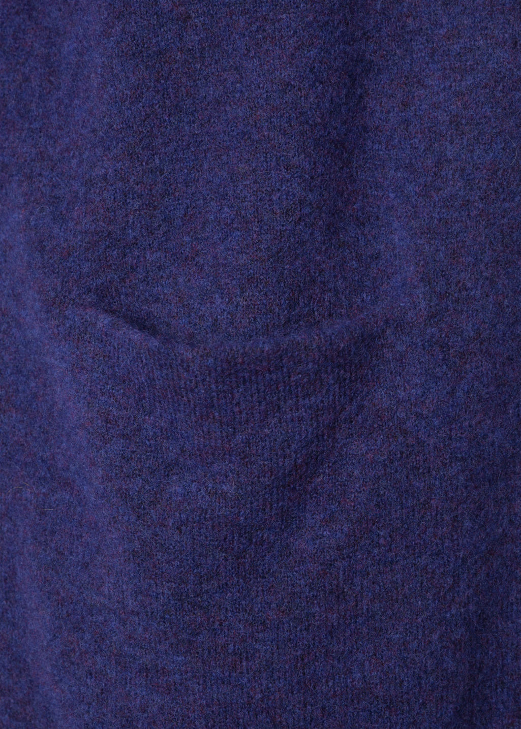 Detailed image of Stories mohair & wool cardigan  in blue