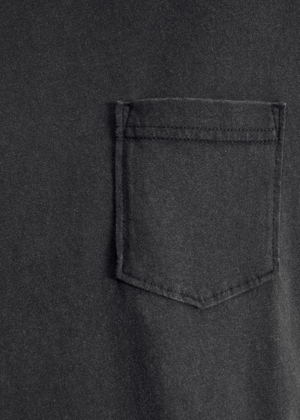 Detailed image of Stories pocket t-shirt in black
