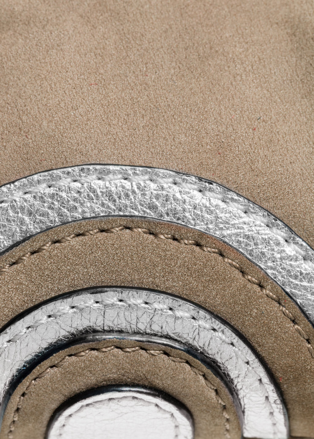 Detailed image of Stories leather coin purse in beige