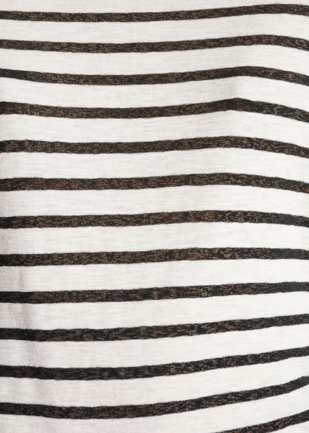 Detailed image of Stories striped cotton tee in black