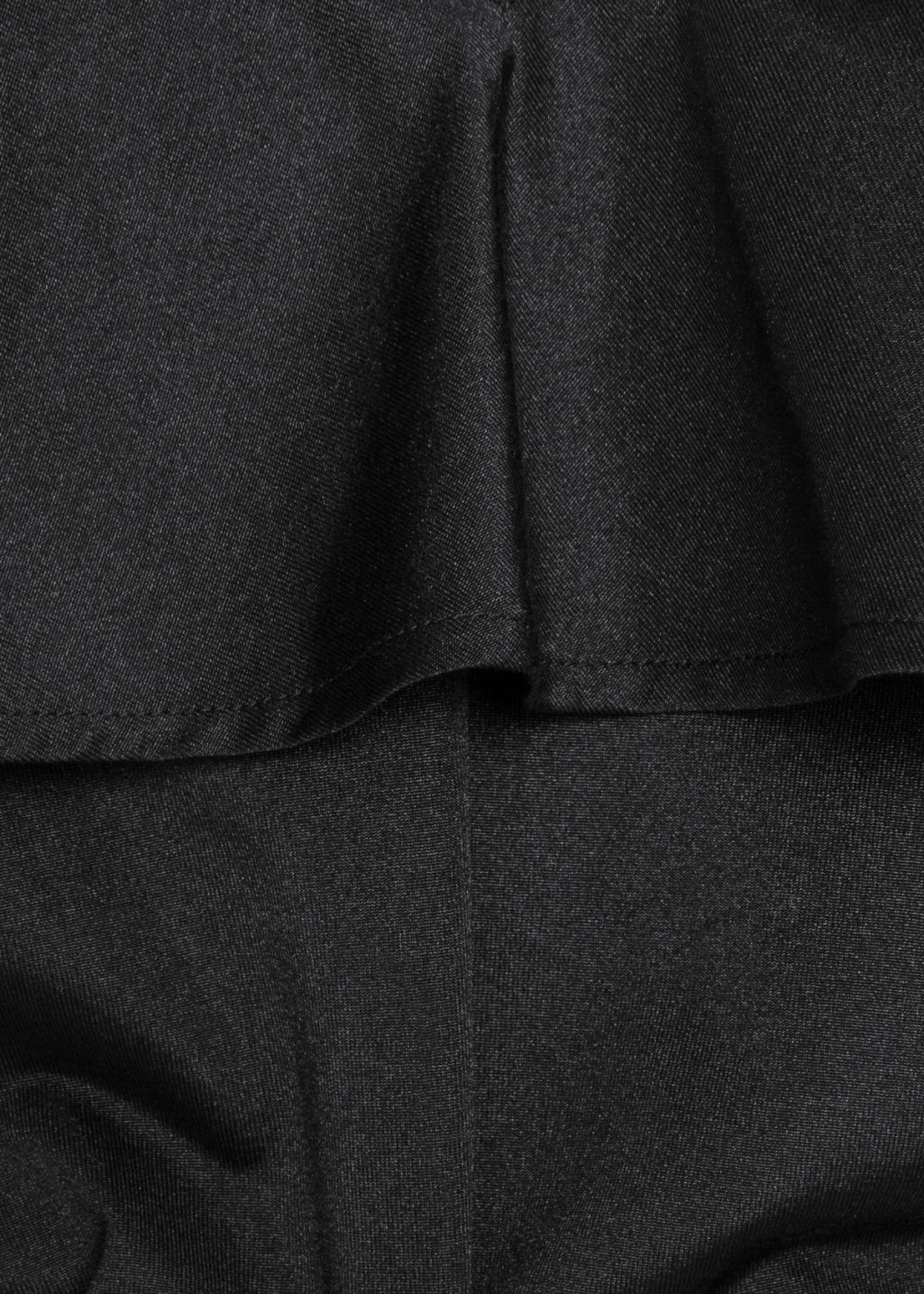 Detailed image of Stories frill off-shoulder top in black