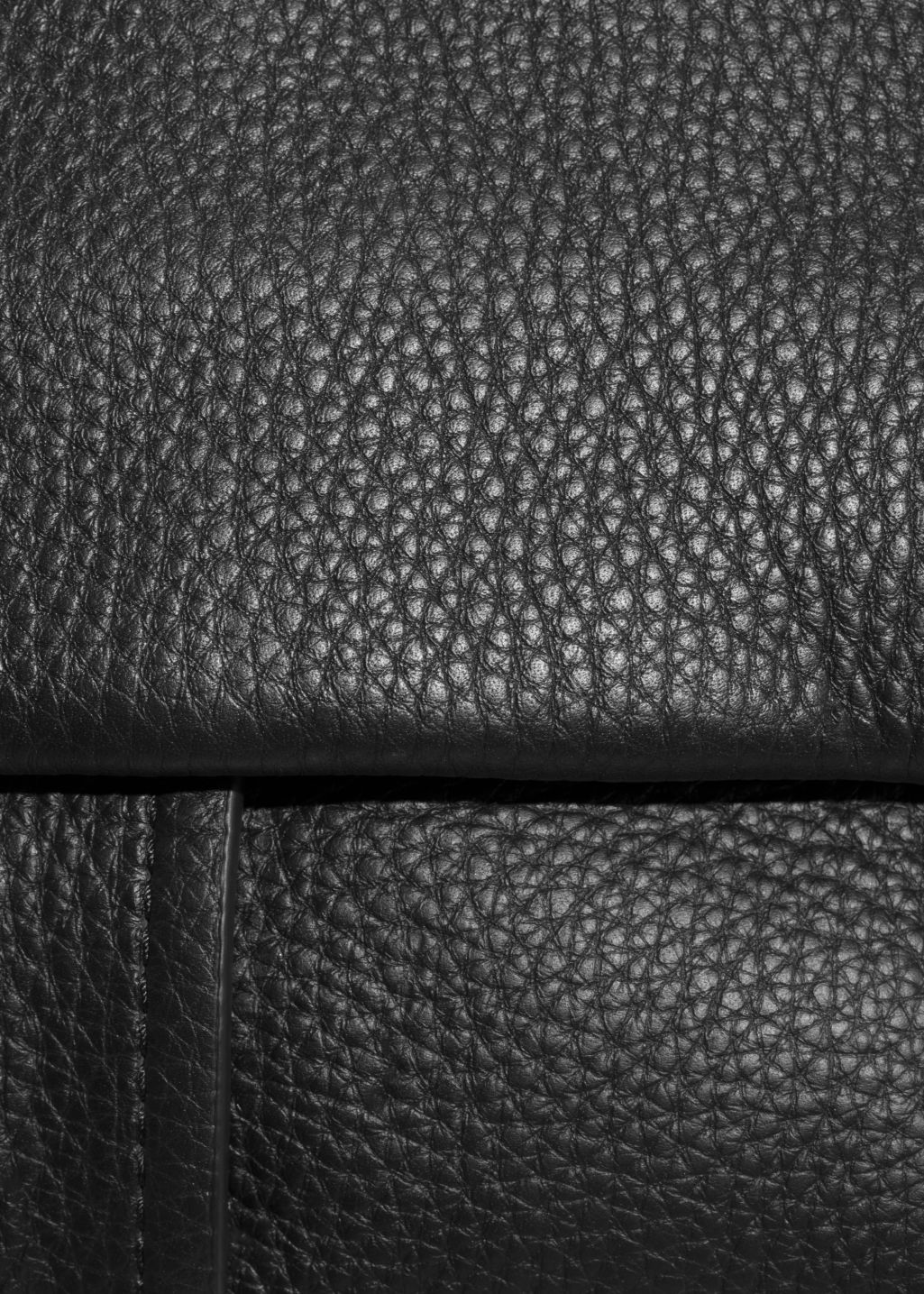 Detailed image of Stories small leather hobo bag in black