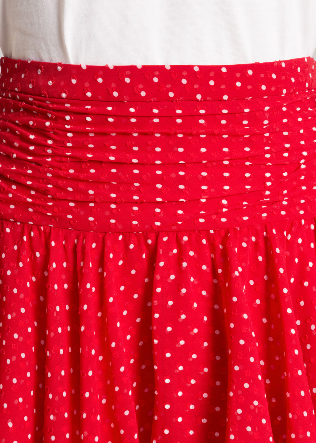 Detailed image of Stories frill skirt in red