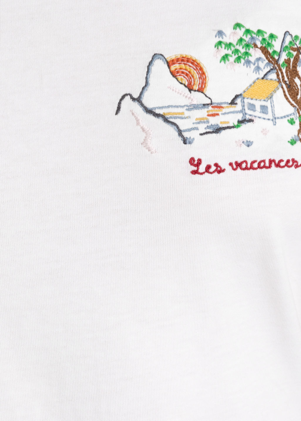 Detailed image of Stories les vacances tee in white