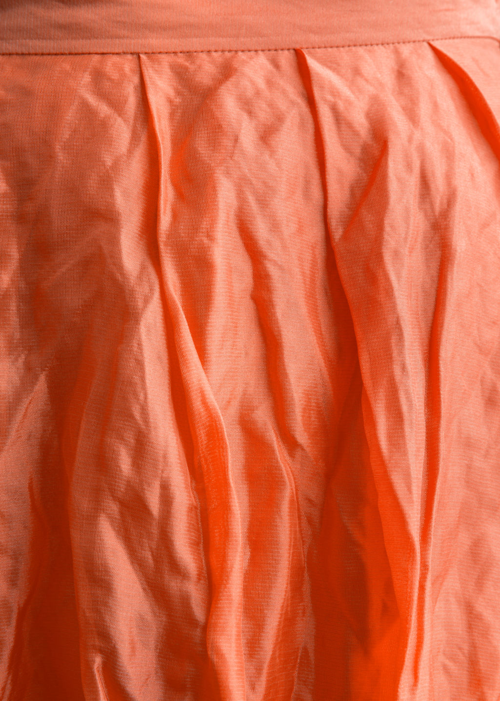 Detailed image of Stories silk blend skirt in orange