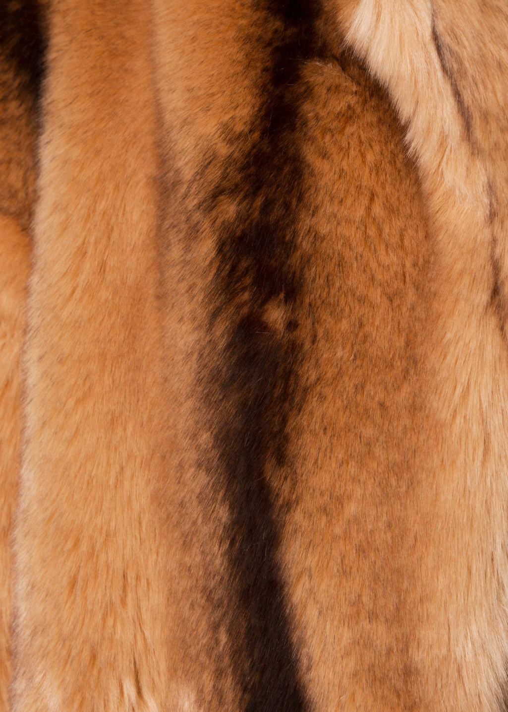 Detailed image of Stories faux fur coat in orange