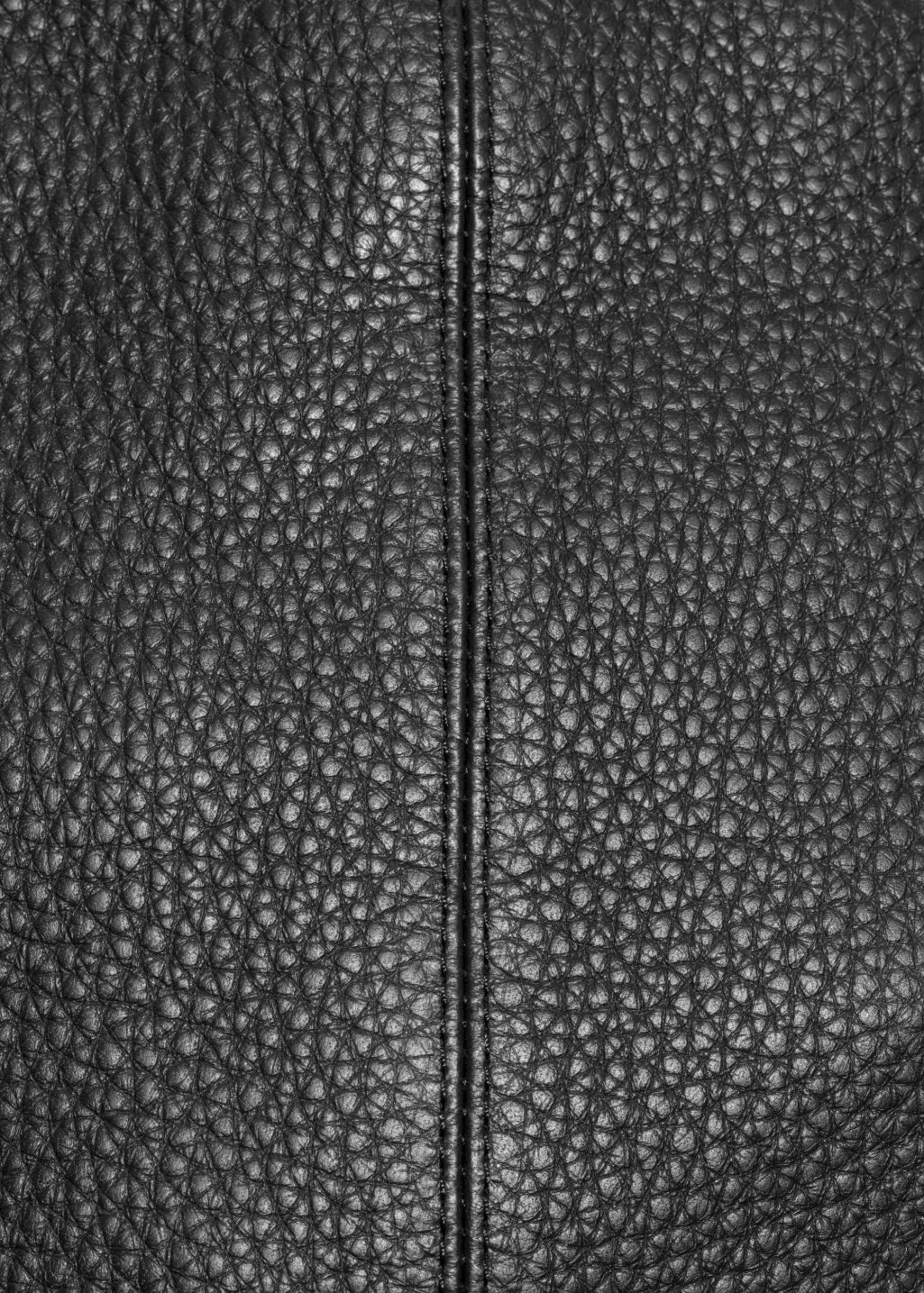 Detailed image of Stories leather hobo in black