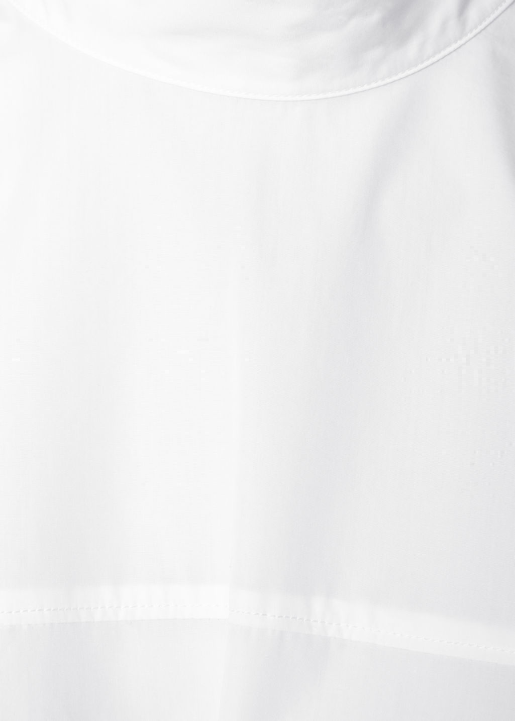 Detailed image of Stories scallop hem blouse in white