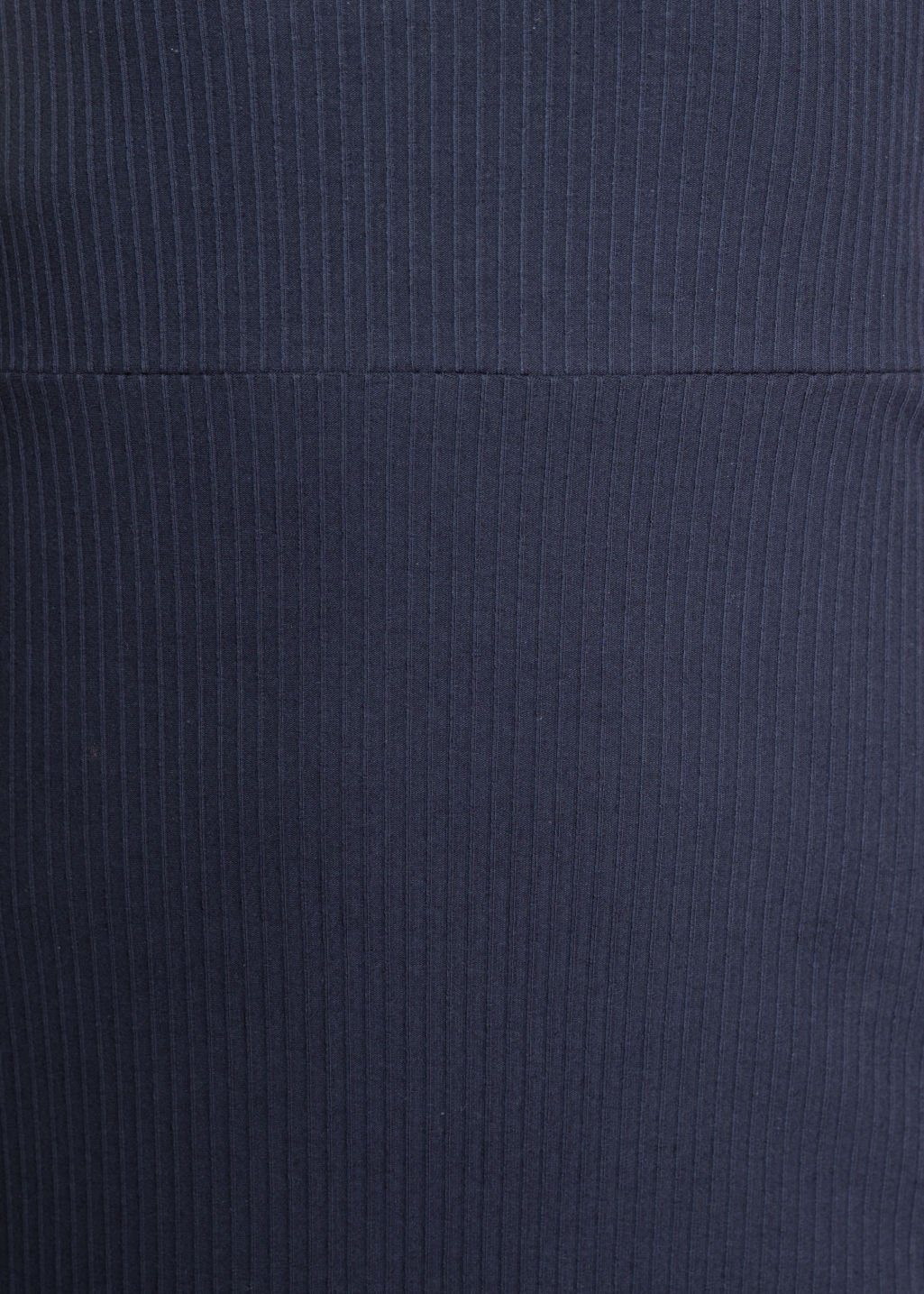 Detailed image of Stories ribbed tie-strap dress in blue