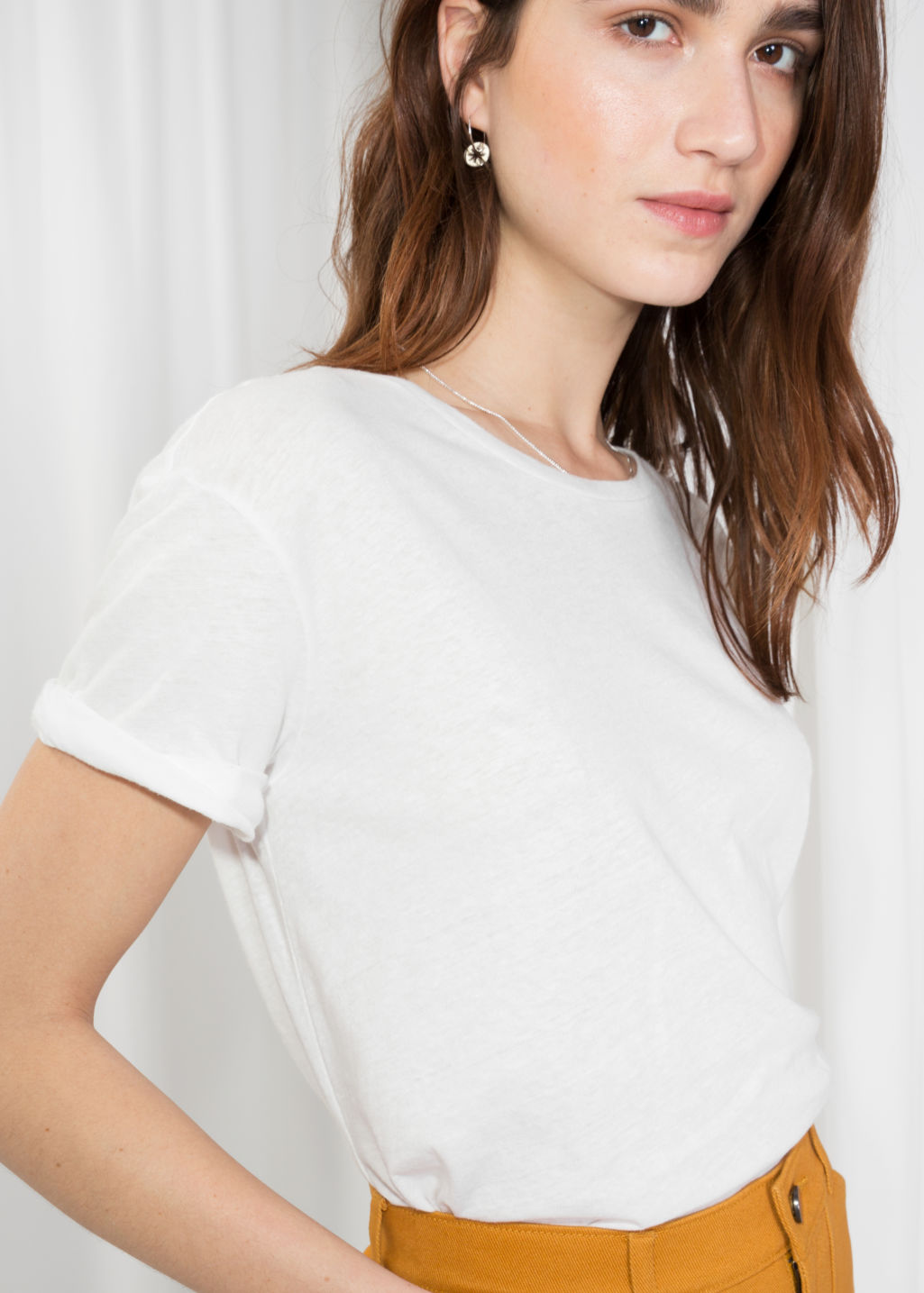 Detailed image of Stories cotton tee in white