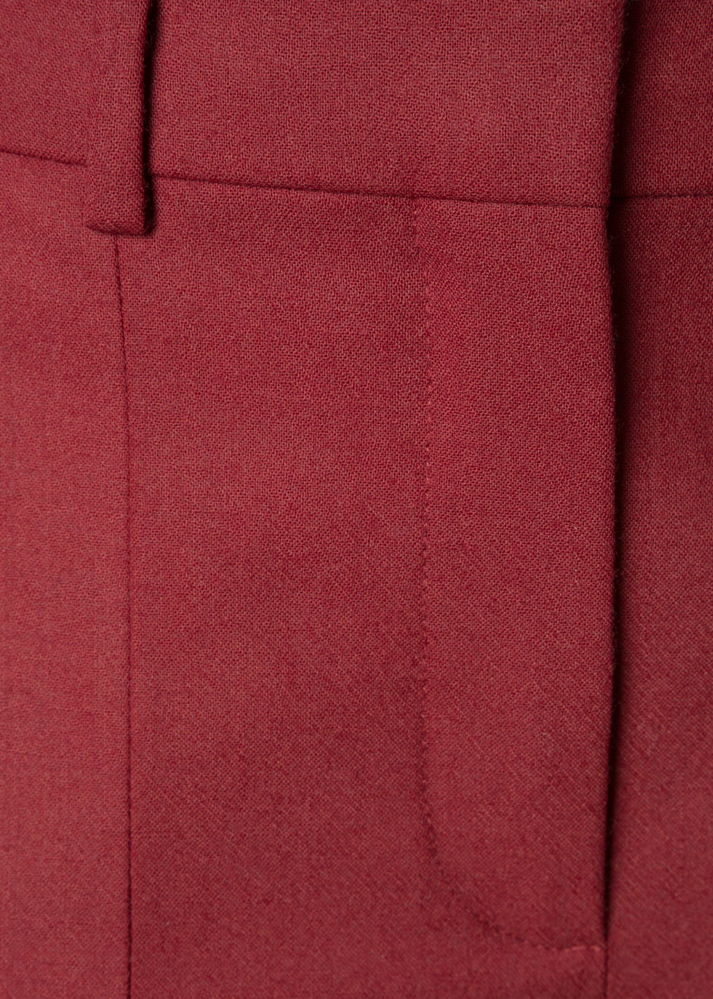 Detailed image of Stories crease wool trousers in red
