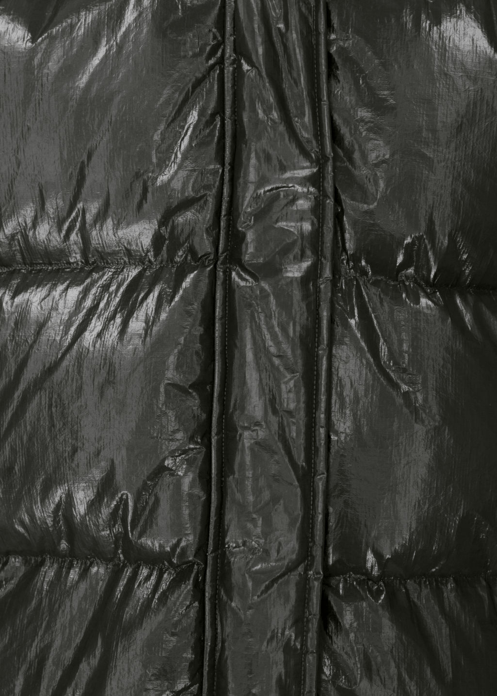 Detailed image of Stories padded down puffer jacket in black