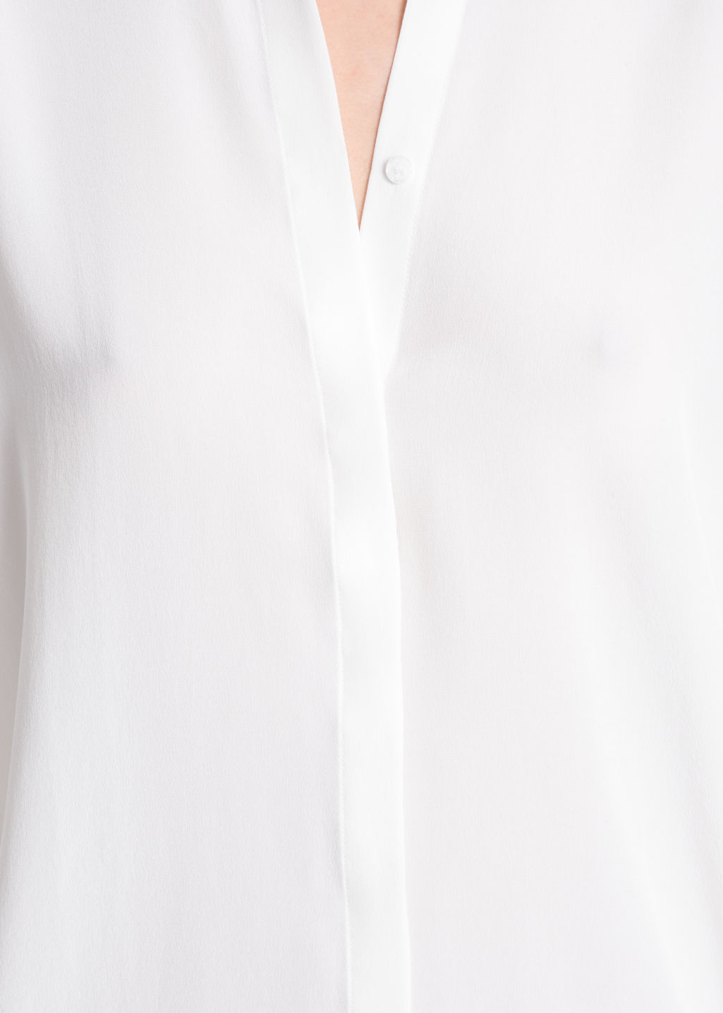 Detailed image of Stories relaxed fit cotton button-down in white