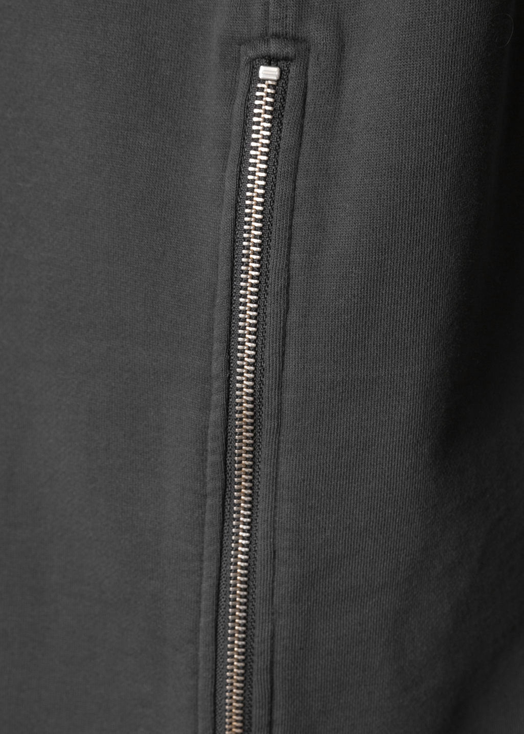 Detailed image of Stories zipper shirt dress in black