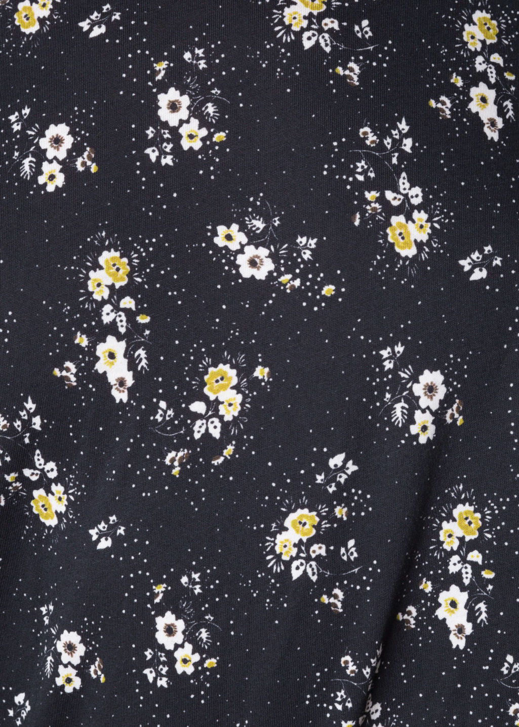 Detailed image of Stories floral cotton top in black