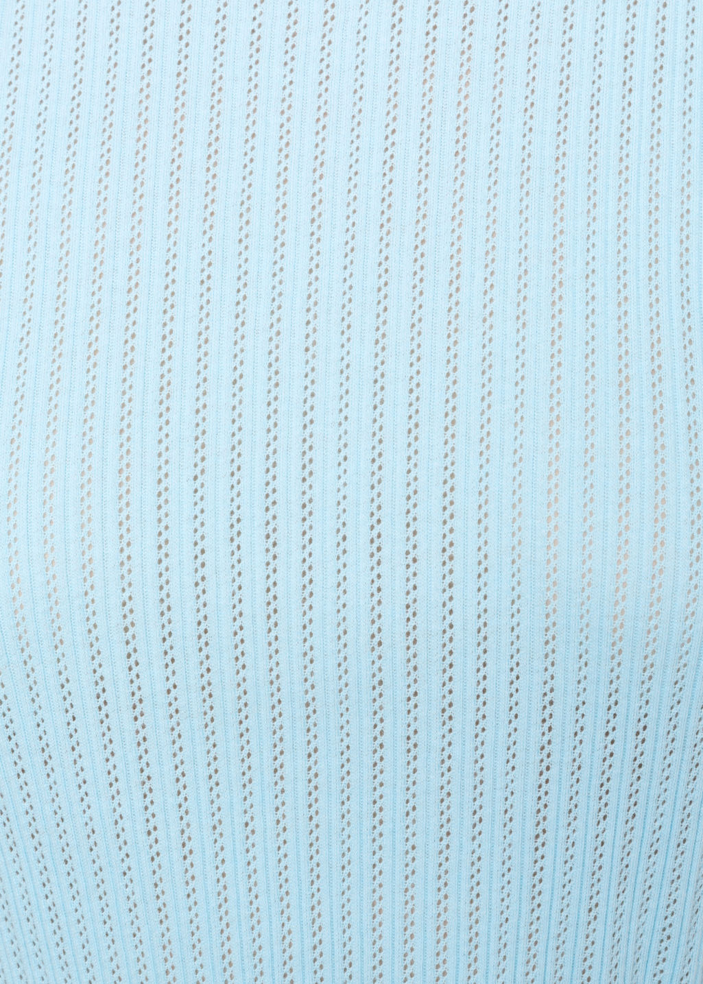 Detailed image of Stories ribbed top in turquoise