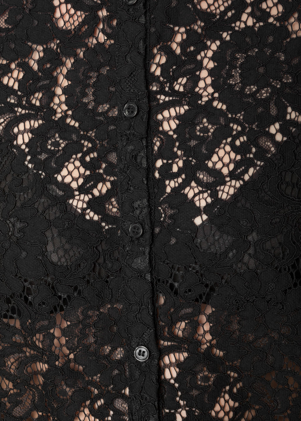Detailed image of Stories lace blouse in black
