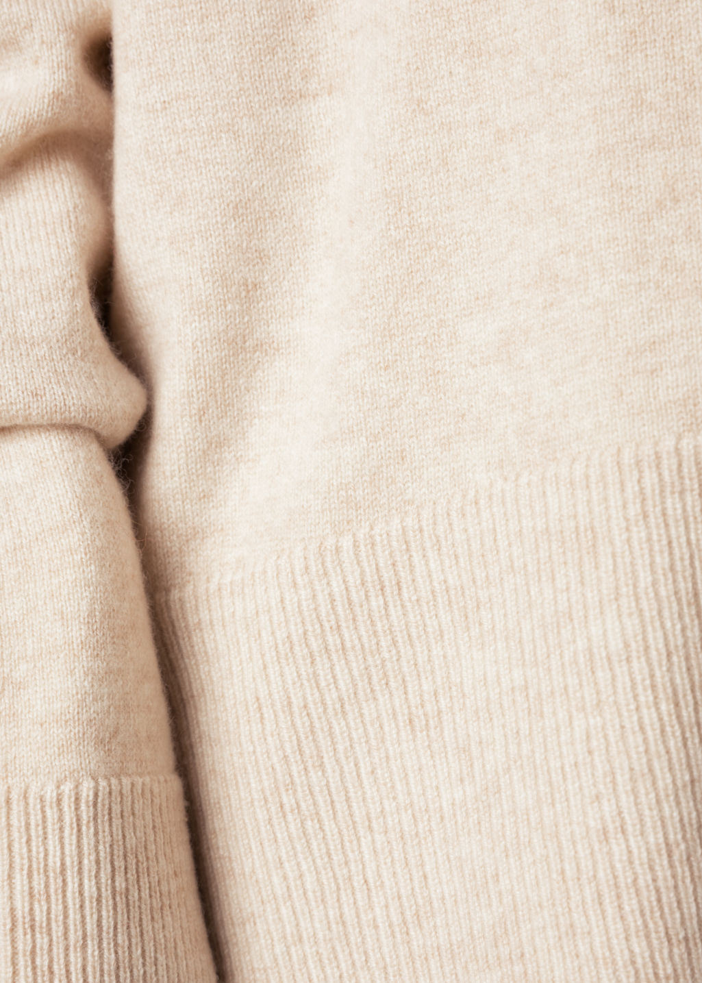 Detailed image of Stories oversize cashmere sweater in beige