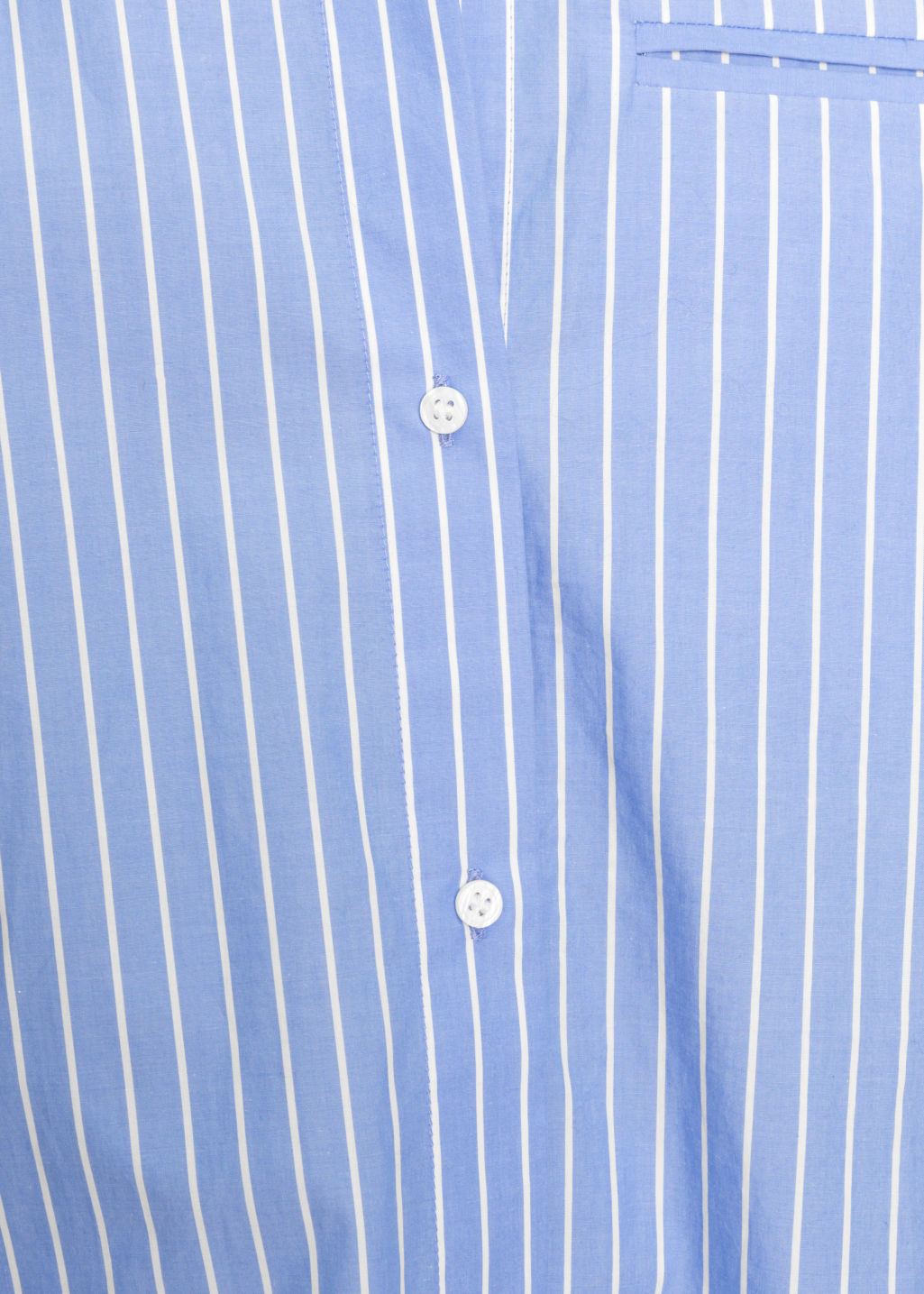 Detailed image of Stories stripe cotton shirt in blue