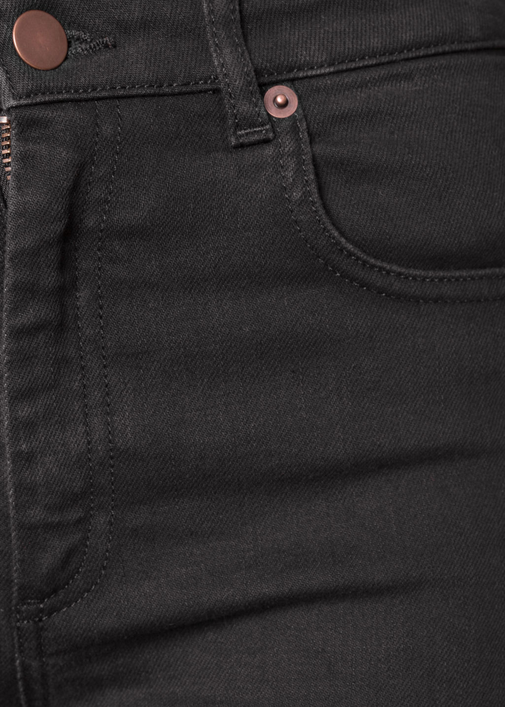 Detailed image of Stories slim-fit denim jeans in black