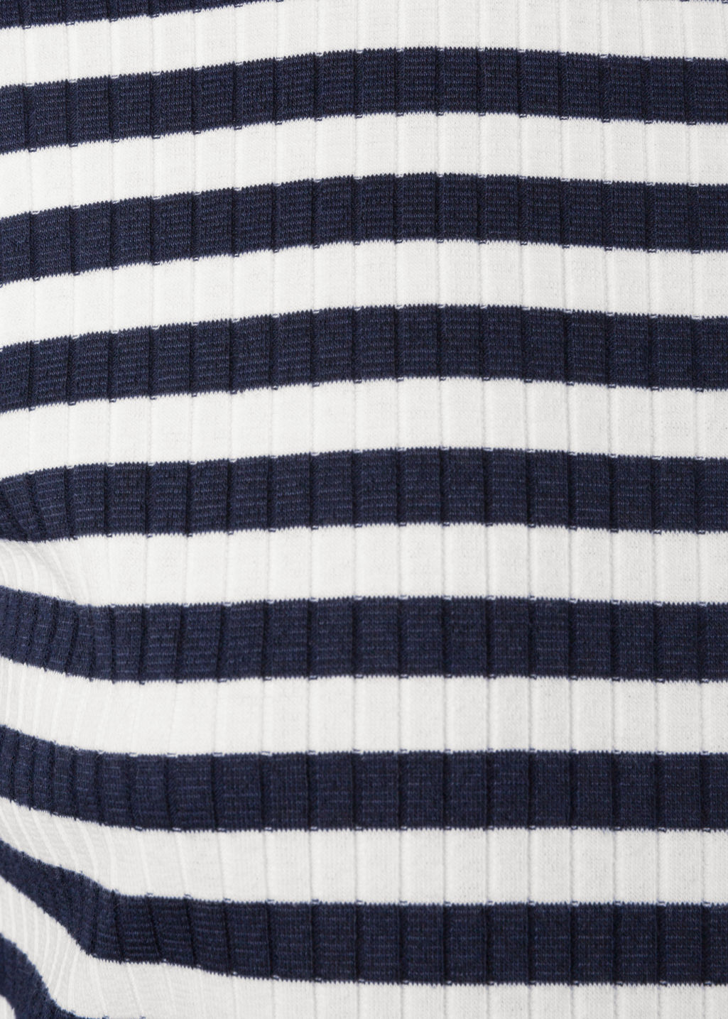 Detailed image of Stories ribbed stripe top in blue