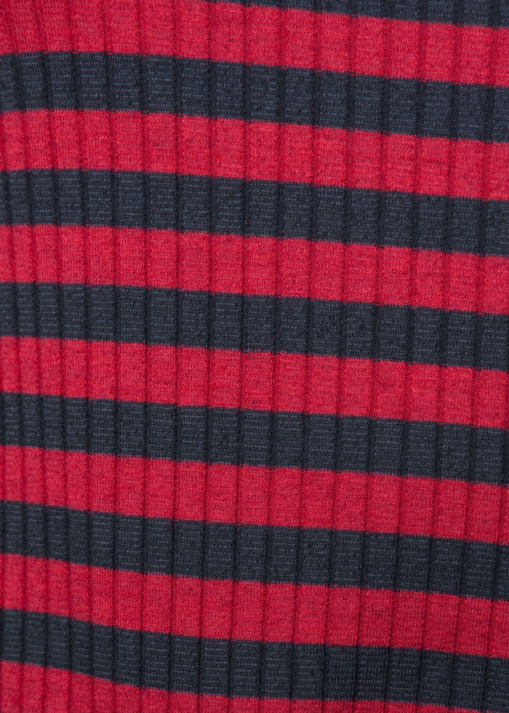 Detailed image of Stories ribbed stripe top in red