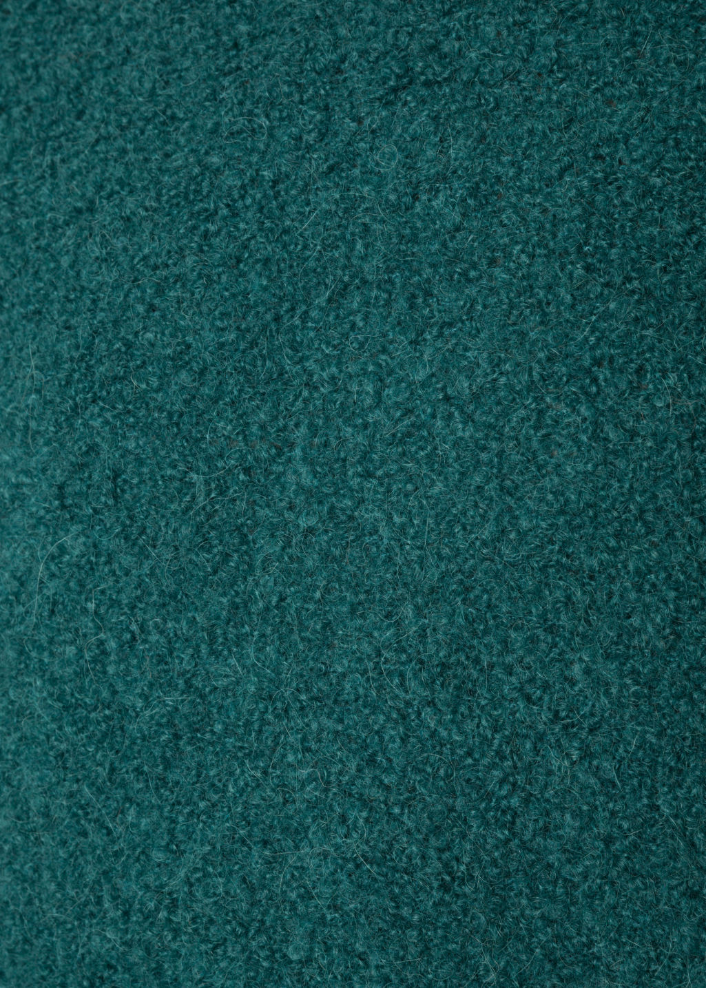 Detailed image of Stories alpaca blend jumper in turquoise