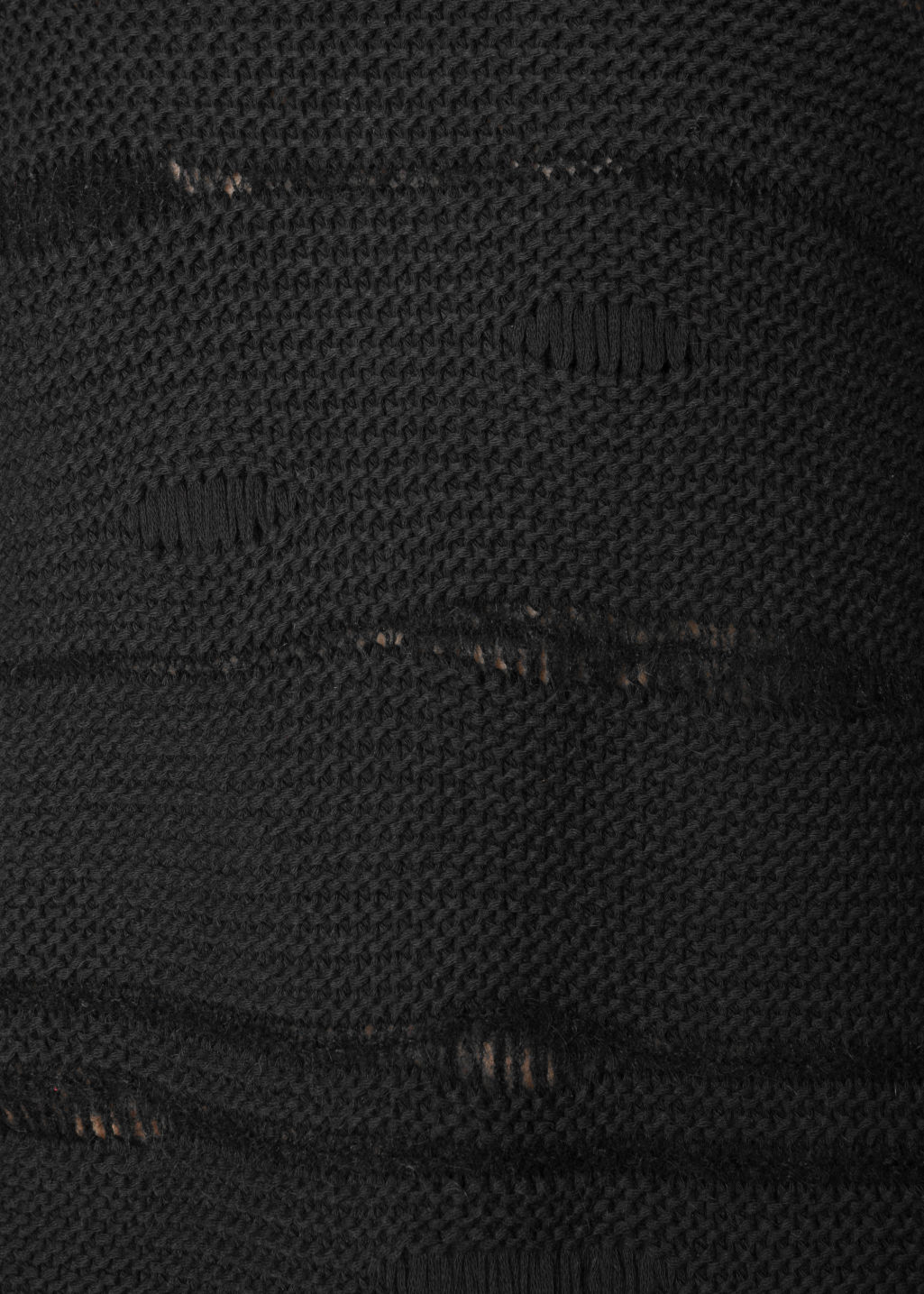 Detailed image of Stories mohair mix jumper in black